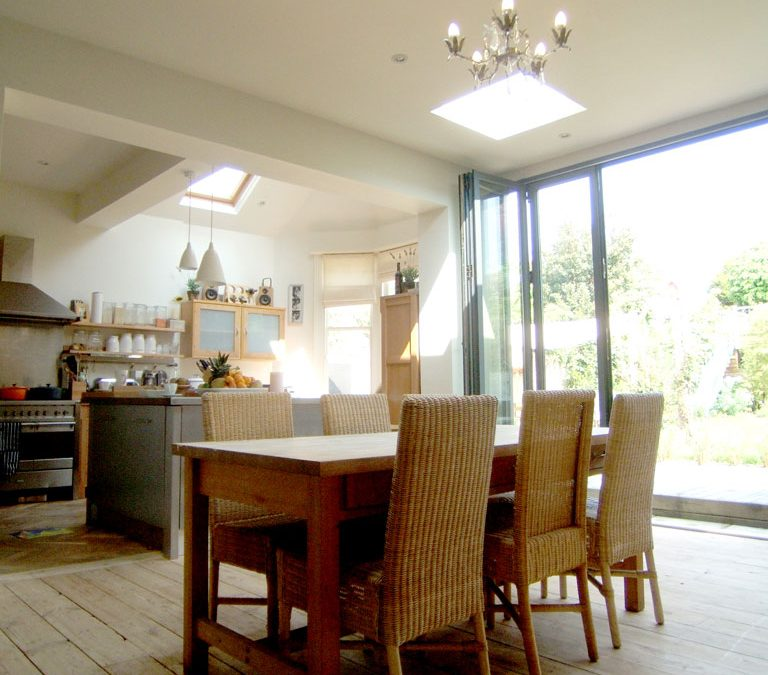 Urban Detached Villa given new family centred rear spaces.