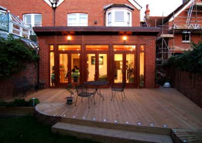 Garden Room Extension with Butterfly Roof