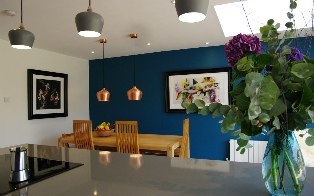 Detached house, formerly small, dark and old fashioned becomes stylish, modern and comfortable
