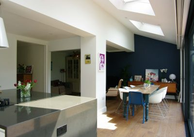 House stretches upwards and outwards to find more space as a family home