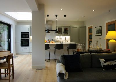 Elegant and comfortable solution for a Kitchen / Garden Room extension